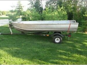 12 Foot Aluminum Boat and Trailer