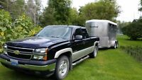 2007 Chevrolet Silverado 1500 LT Pickup Truck and Horse Trailer