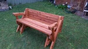 One Piece Folding Garden Table and Bench Seat Hamilton Newcastle Area Preview