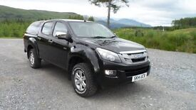 2014 Isuzu D-Max Eiger Double Cab with Truckman Canopy, Work pack B and one owner from New and FDSH