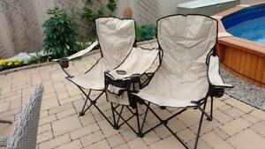 Folding Camping Chair with Cup Holders