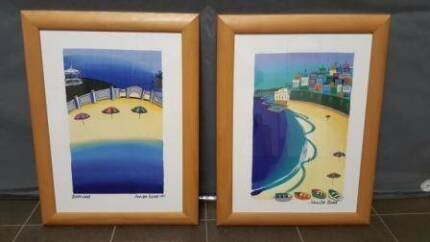 Wall Picture Frames - Beach Scene & Abstract