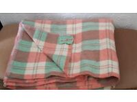 Real Welsh hand made all pure wool blanket