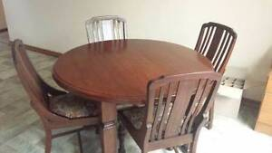Dining table, Qld Maple, + 4 chairs Eastwood Ryde Area Preview