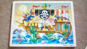 ***NEW !!! Two Wooden Children's Jigsaw Puzzles !!***