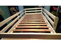 Mid sleeper full sized single bed white - perfect to get some floor space for storage or playing