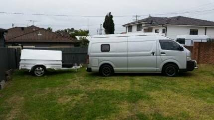 Toyota Hi Ace 5 door campervan and trailer.  Excellent condition Charlestown Lake Macquarie Area Preview