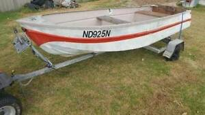 Aluminium fishing boat, tinnie, topper with 6hp motor and trailer Silverdale Wollondilly Area Preview