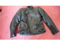 Child's Skintan Leather Bike Jacket, Trousers and Gloves. Age 12