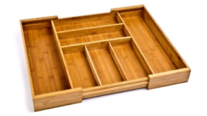 Seville classics bamboo expandable drawer organizer