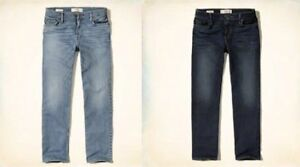 Brand New Hollister Jeans Relaxed Fit 34x32 Light & Dark Wash