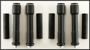 BLACK PUSHROD TUBE KIT FOR HARLEY EVO ENGINES WORKS WITH QUICK CHANGE PUSHRODS