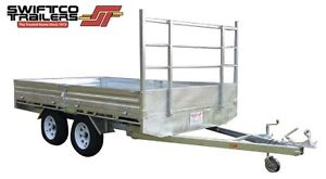 12ft x 7ft GALVANISED FLAT BED TRAILER 3000KG with 300mm SIDES Molendinar Gold Coast City Preview
