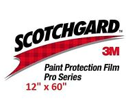 "Paint Protection Film Clear Bra 3M Scotchgard Pro Series 12/"" x 120/"" Sheet"