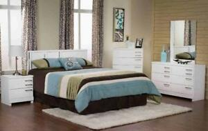 LORD SELKIRK FURNITURE - BLANC MODERN 6PC QUEEN BEDROOM SUITE