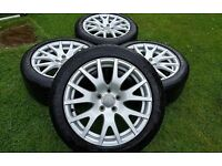 17'' GENUINE AUDI TT MK2 ALLOY WHEELS TYRES 5X112