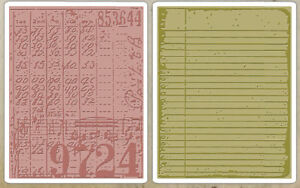Tim Holtz Sizzix Embossing Folders: Collage & Notebook Set -$12