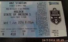 STATE OF ORIGIN GAME 1 2 X ADULT DIAMOND TICKETS SAVE $260 !!! Scarborough Stirling Area Preview
