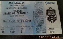 STATE OF ORIGIN GAME 1 2 X ADULT DIAMOND TICKETS (HALF PRICE !!!) Scarborough Stirling Area Preview