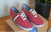 Brand new KEDS sneakers red/white size 8 with box.