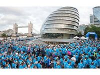 Volunteers are required in central London for a charity run event - Tues 6 September 2016 at 6pm
