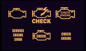 Check engine light?  Service engine soon?