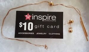 New Inspire Collections Necklace & Earrings