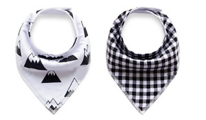 NEW Drool bibs, wooden teething toy- GIFT PACK