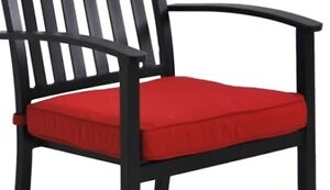 Patio UV Protected Red Seat Cushions  - NEW