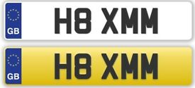 H8 XMM Vehicle Registration Plate for sale