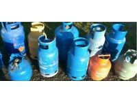 Gas bottle empty calor gas