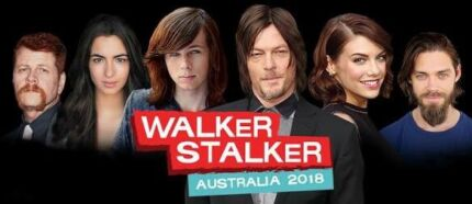 Walker Stalker Saturday Feb 10th Melbourne 2 x Tickets