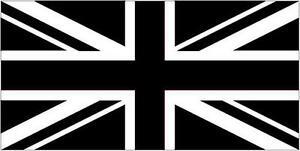 Premium Quality 5Ft X 3Ft 5'X3' Flag Union Jack Black & White