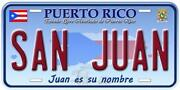 Puerto Rico License Plate