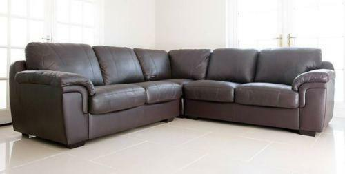 Brown Leather Corner Sofa Bed Ebay