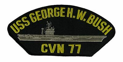 USS GEORGE H W BUSH CVN-77 PATCH USN NAVY SHIP NIMITZ CLASS CARRIER AVENGER