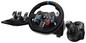 Logitech G29 with 6 speed shifter, clutch pedal