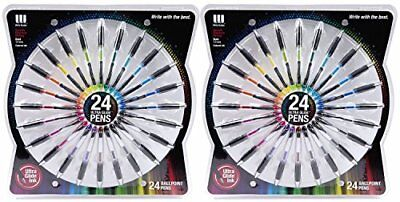 48 Count Pens Write Dudes Ballpoint Ultra Glide Ink Smooth Assorted Colors