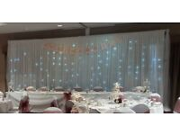 Wedding decor hire Chair covers 4ft LOVE Twinkle backdrop package deals for weddings/parties