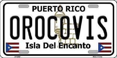 Orocovis Puerto Rico Metal Novelty License Plate