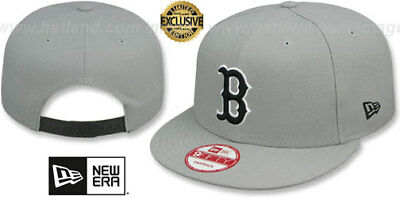 2486b739aaf1 Red Sox 'TEAM-BASIC SNAPBACK' Grey-Black Hats by New Era