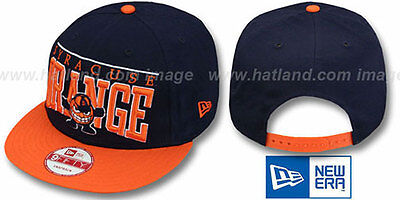 Syracuse 'LE-ARCH SNAPBACK' Navy-Orange Hats by New -