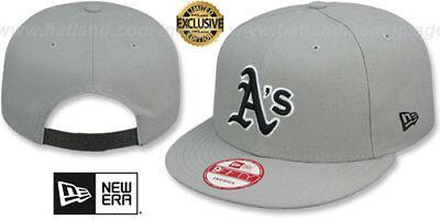 size 40 f8947 52e48 Athletics  TEAM-BASIC SNAPBACK  Grey-Black Hats by New Era