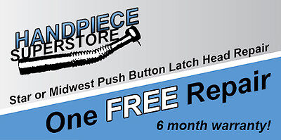 One Free Star Or Midwest Push Button Latch Head Dental Handpiece Repair