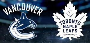 Canucks vs Maple Leafs - Mar 6, 2019 - Lower Bowl - 2 Tickets