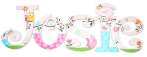 Hand-Painted-Wood-Wooden-Name-Nursery-Wall-Letters-m2m-Match-Happi-Tree-Owls