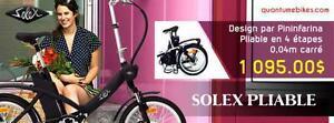 Vente de vélo pliant électrique Solex