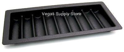 Thick ABS Black Poker / Blackjack Chip Tray (9 Row / 450 Chip) - Item 95-0350