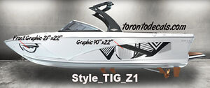 Malibu boat graphic kits,Tige vinyl graphic kits Kitchener / Waterloo Kitchener Area image 3