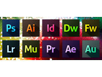 ADOBE PHOTOSHOP, INDESIGN, ILLUSTRATOR, AFTER EFFECTS CC 2017,etc... PC or MAC